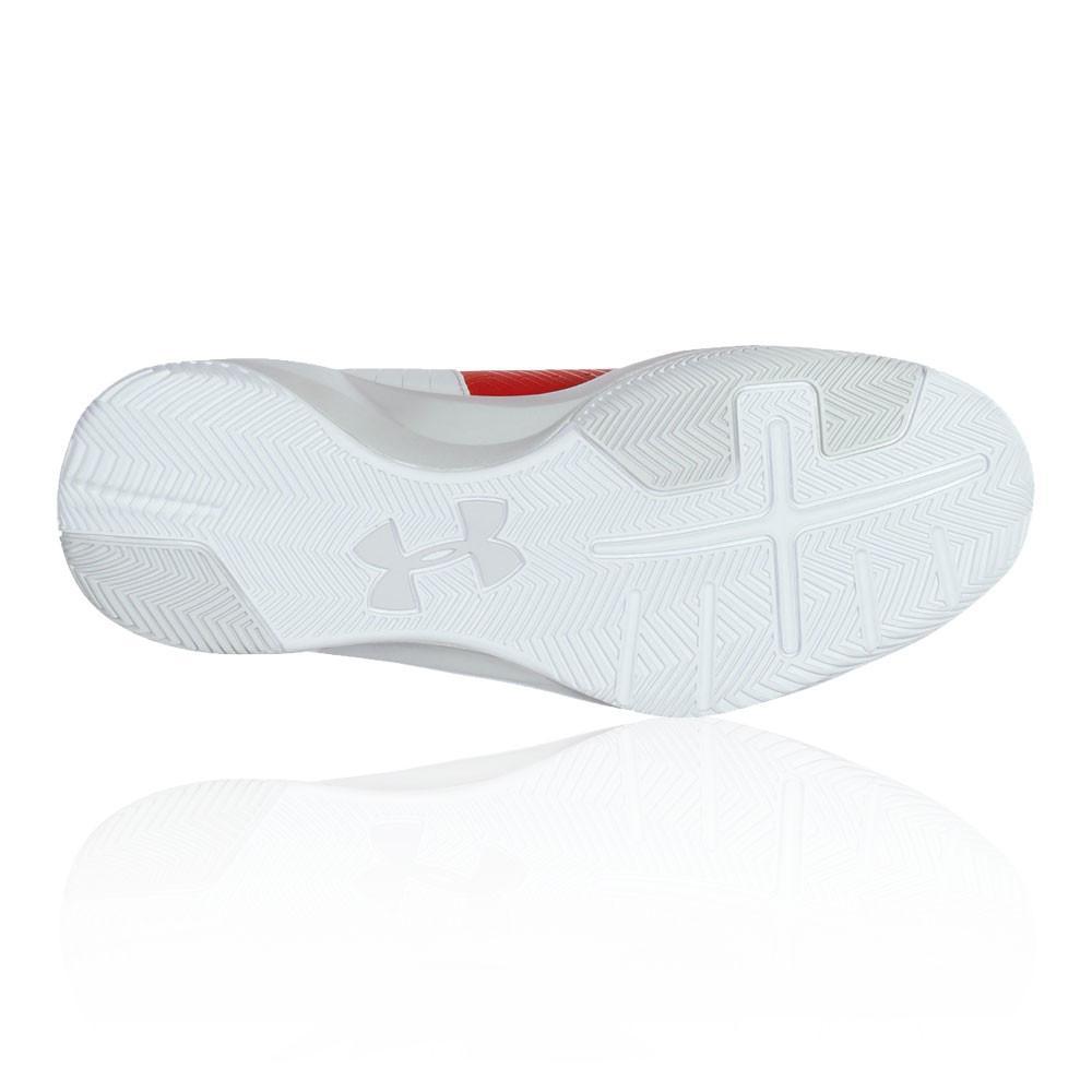 Under Armour – Hombre Rocket 2 Zapatillas De Baloncesto Baloncesto Blanco/Rojo